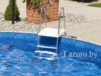 Azuro De Luxe Stainless ladder